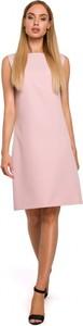 Różowa sukienka MOE z tkaniny mini