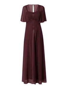 Sukienka Christian Berg Cocktail z krótkim rękawem maxi z satyny