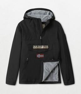 Czarna kurtka Napapijri z plaru w sportowym stylu