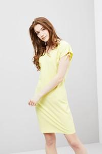 Żółta sukienka moodo.pl mini