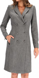 Płaszcz Premiera Dona w stylu casual z tkaniny