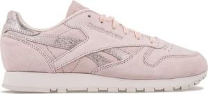Różowe buty sportowe Reebok sznurowane z zamszu