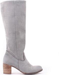 Zapato kozaki - skóra naturalna - model 155 - kolor grafit