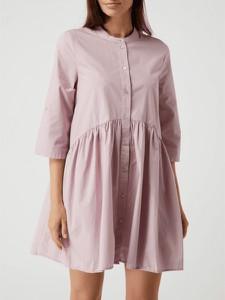 Różowa sukienka Only z bawełny z długim rękawem oversize