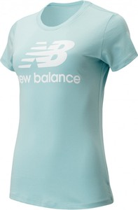 Bluzka New Balance z okrągłym dekoltem z bawełny