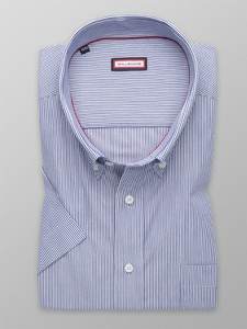 Niebieska koszula Willsoor z tkaniny