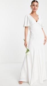 Sukienka Asos z dekoltem w kształcie litery v z krótkim rękawem