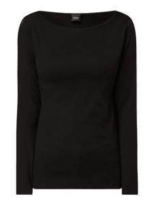 Czarna bluzka S.Oliver Black Label z okrągłym dekoltem z długim rękawem w stylu casual