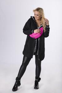 Czarny płaszcz Ptak Moda w stylu casual