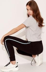 Czarne spodnie sportowe Diverse z dresówki