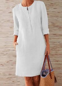 Sukienka Arilook w stylu casual z okrągłym dekoltem mini
