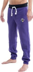 Fioletowe spodnie sportowe OKUAKU z bawełny
