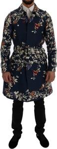 Niebieski płaszcz męski Dolce & Gabbana w młodzieżowym stylu