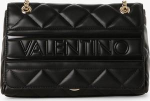 Czarna torebka Valentino mała na ramię pikowana