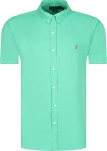 Zielona koszula POLO RALPH LAUREN z krótkim rękawem