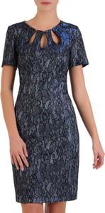 Niebieska sukienka POLSKA midi dopasowana w stylu klasycznym