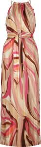 Sukienka Guess by Marciano z jedwabiu maxi