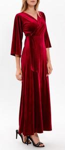 Czerwona sukienka Gate z zamszu