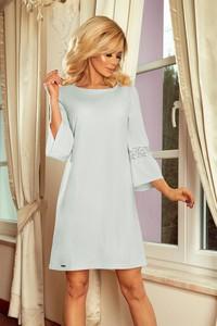 Niebieska sukienka NUMOCO rozkloszowana w stylu klasycznym