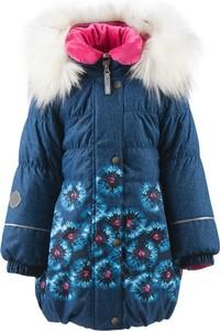 Niebieski płaszcz dziecięcy Lenne z bawełny