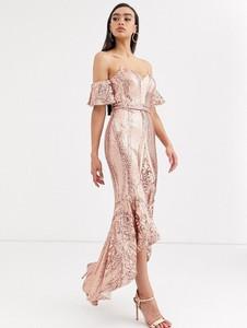 Różowa sukienka Bariano maxi