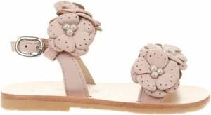 Różowe buty dziecięce letnie Oca-loca dla dziewczynek z klamrami