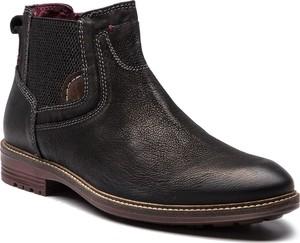 Czarne buty zimowe Canguro z zamszu w stylu casual