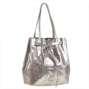 7dc5d07669a8f srebrna torebka worek - stylowo i modnie z Allani