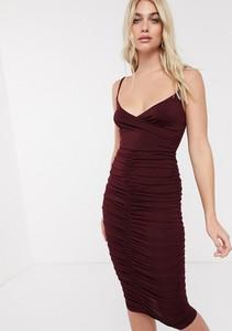 Fioletowa sukienka Ax Paris na ramiączkach