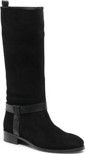 Czarne kozaki Badura w stylu casual