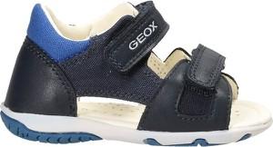 Buty dziecięce letnie Geox dla chłopców na rzepy ze skóry