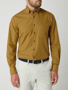 Żółta koszula Eterna w stylu casual z długim rękawem
