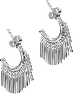 f8babd6100b732 Moda Italiana Kolczyki rodowane srebrne boho z frędzelkami ag925