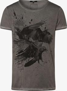 Brązowy t-shirt Tigha z bawełny