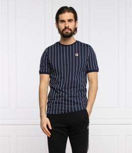 Niebieski t-shirt Fila z krótkim rękawem