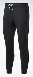 Czarne spodnie sportowe Reebok Fitness w sportowym stylu