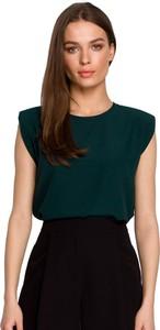 Zielona bluzka Style w stylu casual z krótkim rękawem