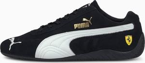 Czarne buty sportowe Puma sznurowane ze skóry