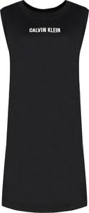 Sukienka Calvin Klein z okrągłym dekoltem mini prosta