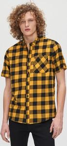 Żółta koszula Cropp z krótkim rękawem