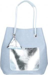 Niebieska torebka Chiara Design duża z tkaniny na ramię