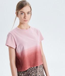 Różowy t-shirt Cropp