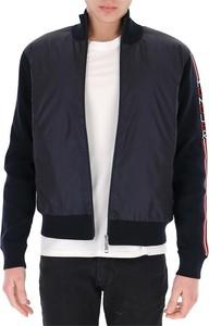 Czarna kurtka Moncler krótka z wełny