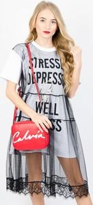 Sukienka Olika w stylu casual mini z krótkim rękawem