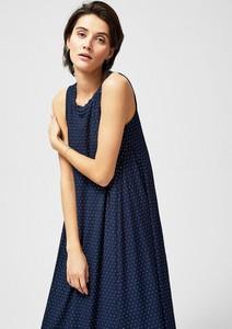 Sukienka Moodo z okrągłym dekoltem oversize bez rękawów