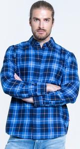 Niebieska koszula Big Star z długim rękawem w stylu casual z klasycznym kołnierzykiem