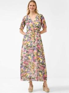 Sukienka ORSAY z krótkim rękawem maxi z dekoltem w kształcie litery v