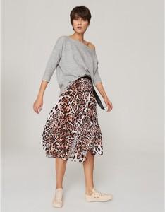 Spódnica Klaudyna Cerklewicz z tkaniny midi