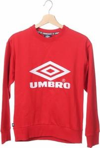 Czerwona bluzka Umbro z okrągłym dekoltem z długim rękawem