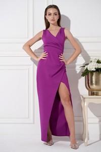 Fioletowa sukienka Ella Boutique na ramiączkach